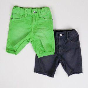 lot of 2 gap shorts denim green gray EUC jeans